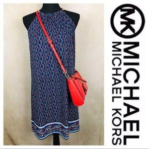 MK Michael Kors | Shift Halter Dress | Navy | XS